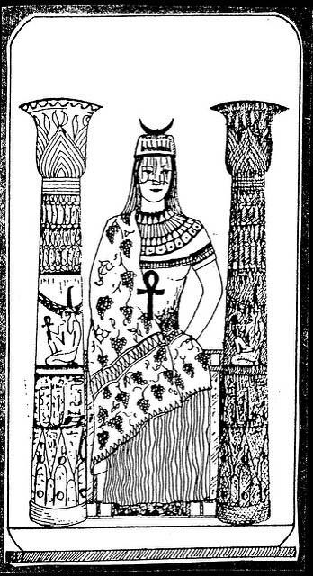 Egyptian Tarot High Priestess
