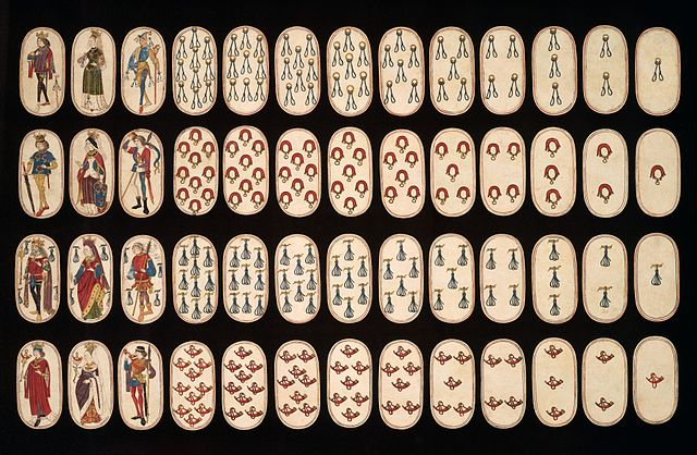Flemish Hunting Deck Oldest Known Playing Cards via Wikimedia Commons