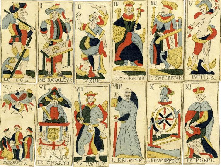 German Tarot Cards - Italian Style - 1750