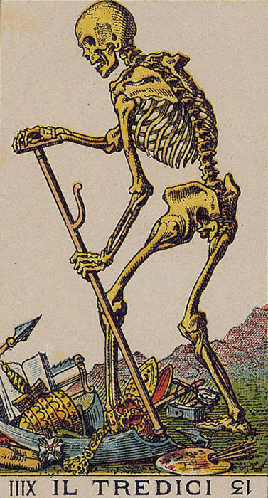 Il Tredici Death Ancient Italian Tarot Card