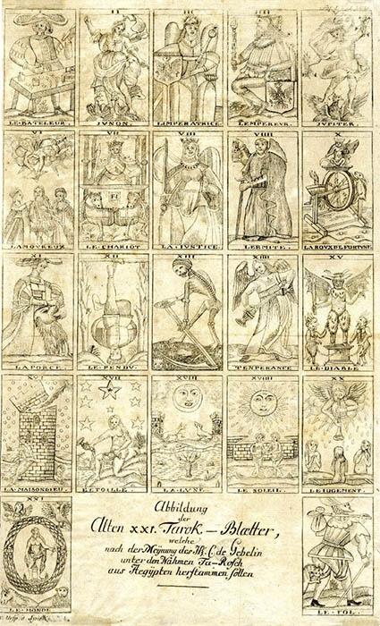 Le Fol Brietkofs Urspring der Spielkarten 1784 C de Gebelin