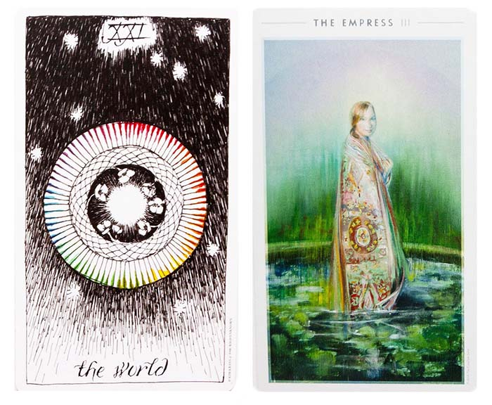 Indie Tarot Examples - Wild Unknown and Fountain Tarot