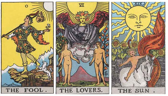 Major Arcana Examples from the Rider Waite Smith Tarot Deck