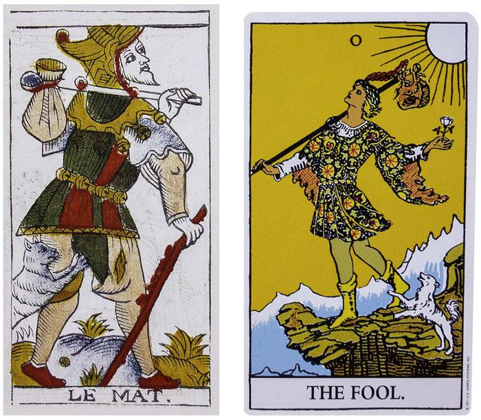 The Fool vs Le Mat - Tarot Cards