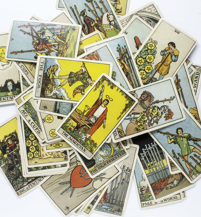 Shuffling Tarot Cards