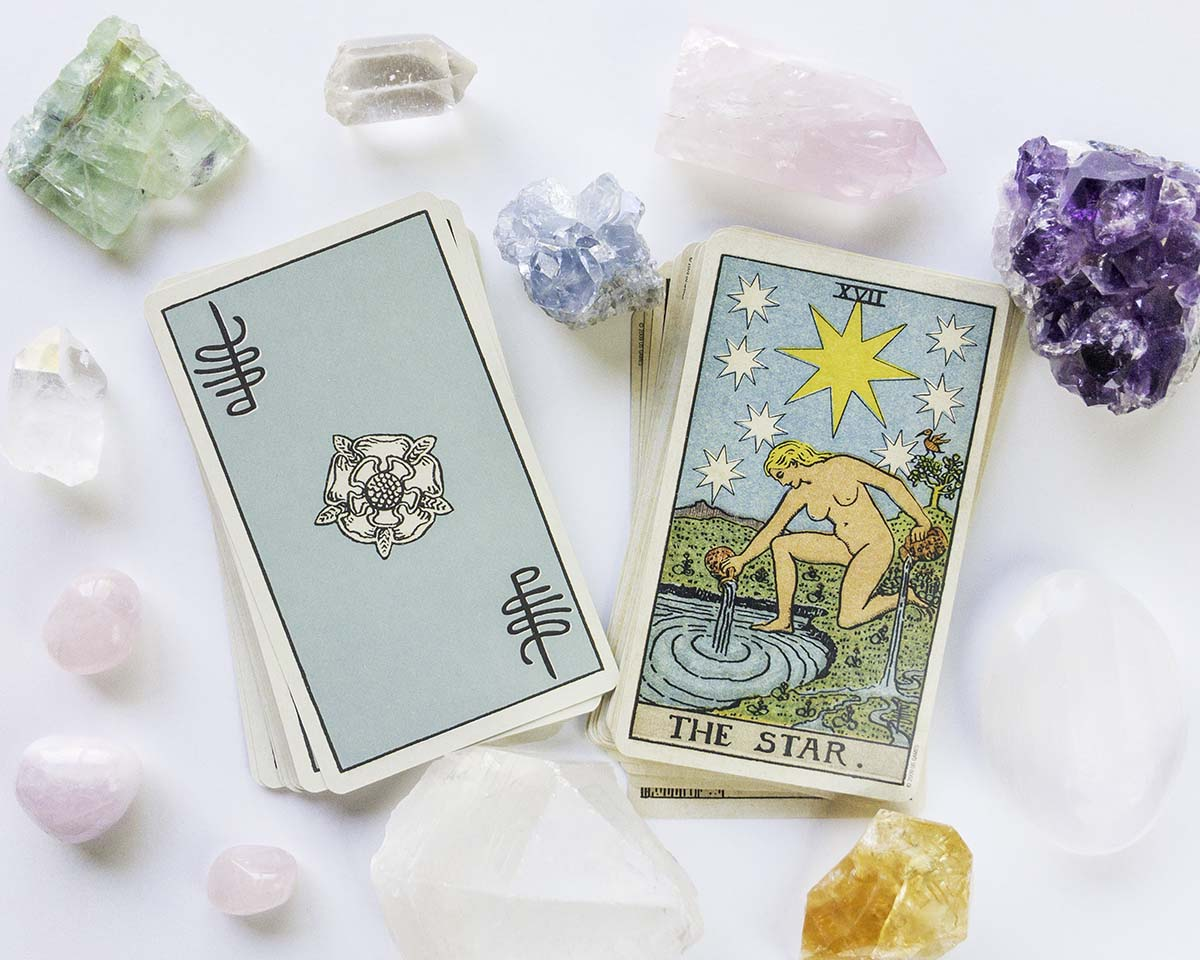Using Crystals and Tarot Cards