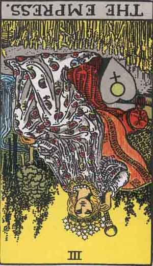 The Empress Tarot Card Reversed Meanings