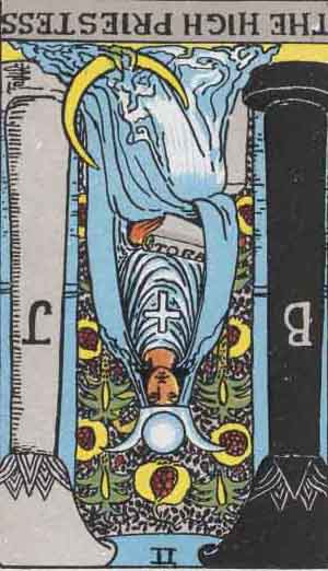 The High Priestess Tarot Card Reversed Meanings