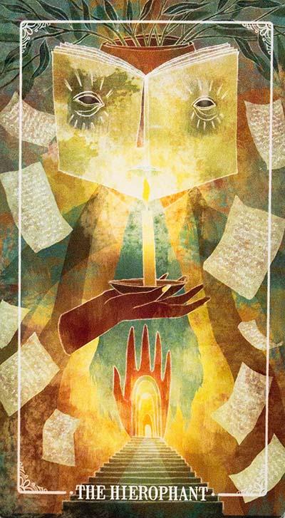 Ostara Tarot Hierophant Card Meaning