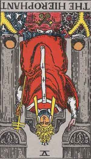 The Hierophant Reversed Tarot Card Meanings