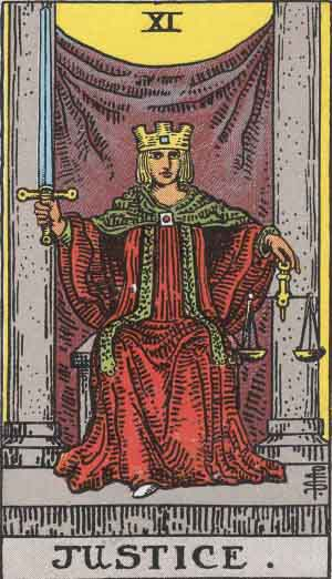 Justice Tarot Card Meanings