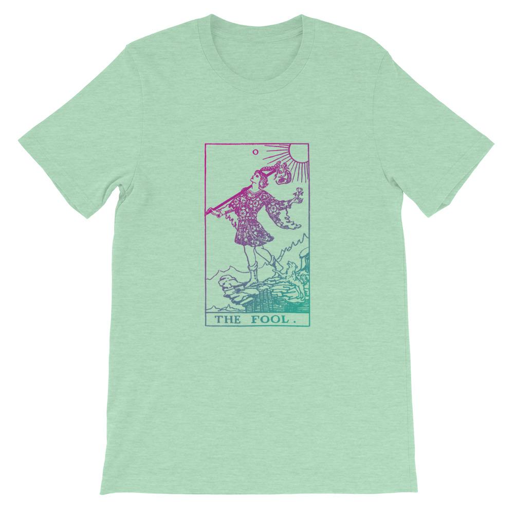 The Fool Tarot Card Pastel Aesthetic T-shirt Green