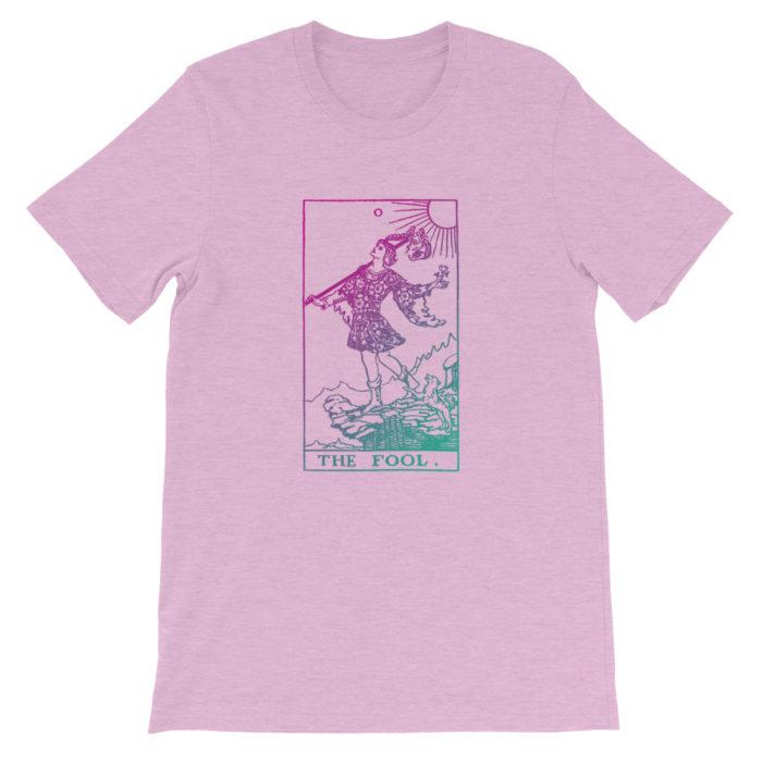 The Fool Tarot Card Pastel Aesthetic T-shirt Purple