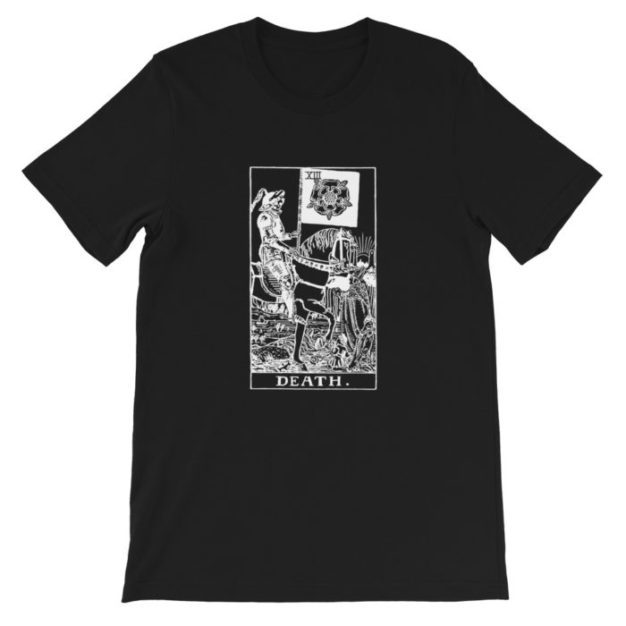 The Death Tarot Card Black and White Classic T-Shirt
