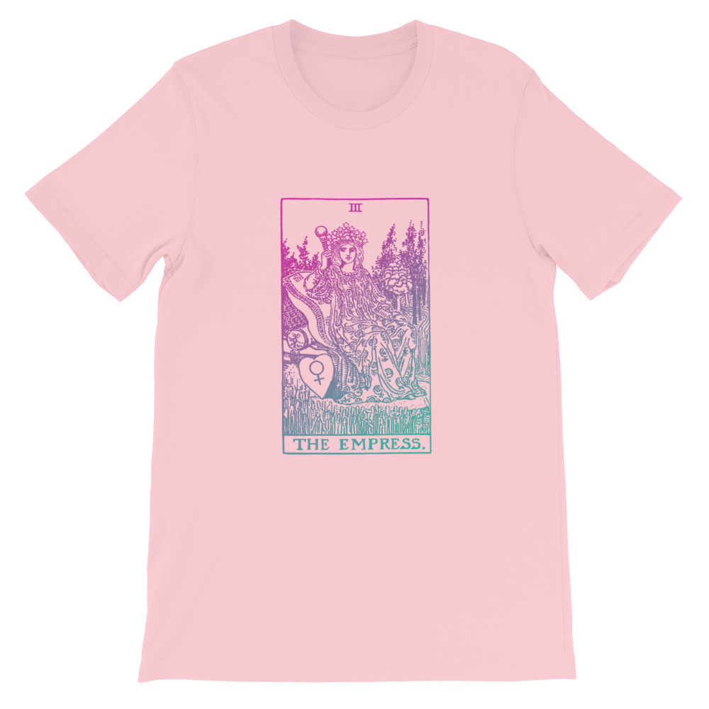 The Empress Tarot Card Pastel Aesthetic T-shirt Pink