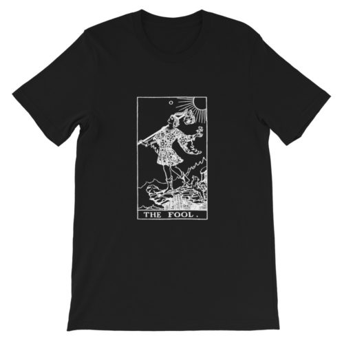 The Fool Tarot Card Black and White Classic T-Shirt