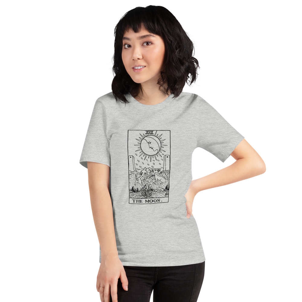 The Moon Tarot Card Vintage Style Tee