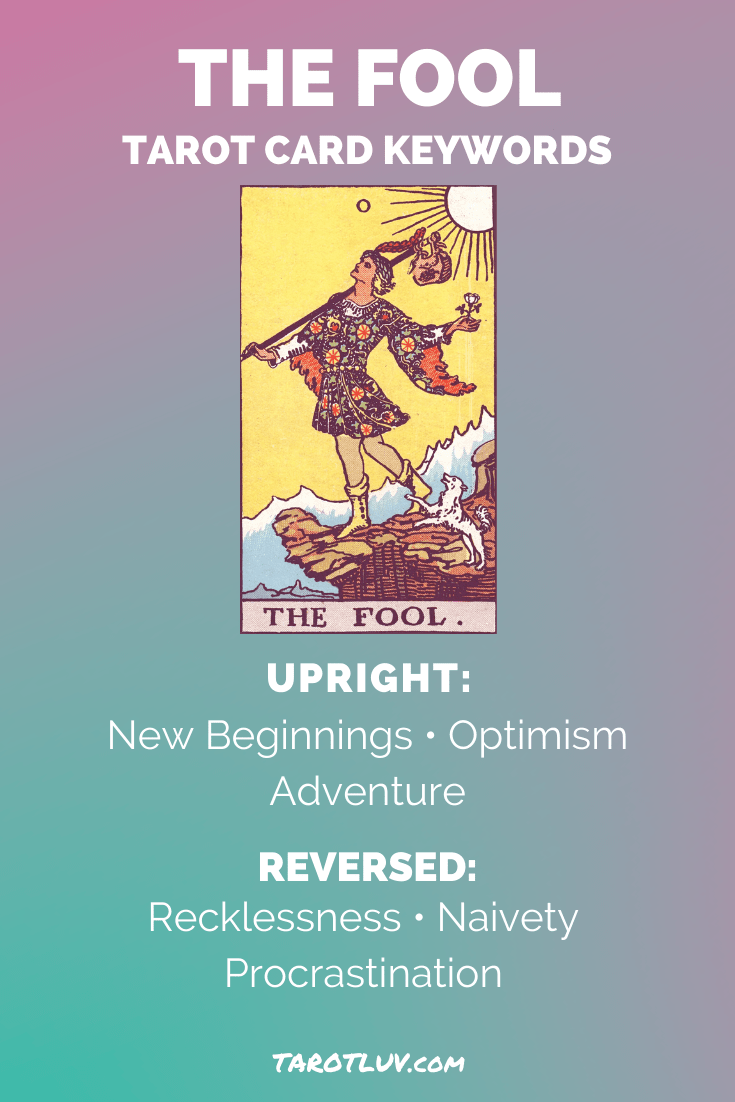 The Fool Tarot Card Keywords -Upright and Reversed