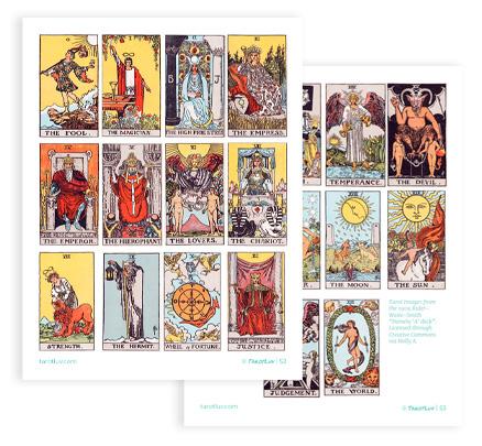 Printable Mini Tarot Deck Images